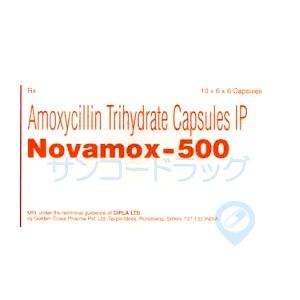 ノバモックス(アモキシシリン・ジェネリック)500mg 15錠